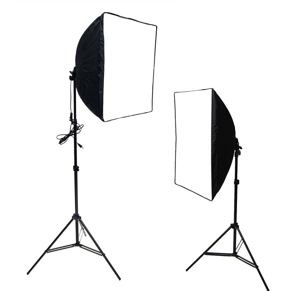 50+70CM雙柔光罩超亮四聯燈雙用組合-贈收納袋