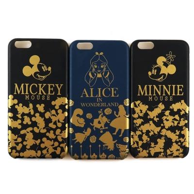 Disney迪士尼iPhone 7時尚燙金皮革保護殼