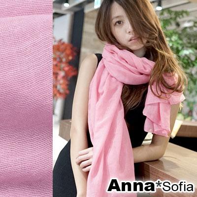 AnnaSofia-軟柔手感棉麻-超大寬版披肩圍巾