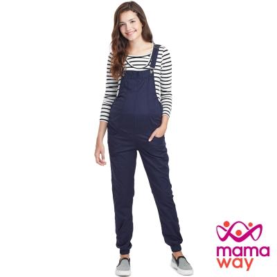 Mamaway 孕期平織束口吊帶褲(共三色)