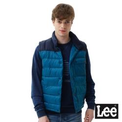 Lee 保暖舖棉背心-男款-藍紫色