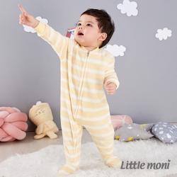 Little moni 珊瑚絨連身褲裝 (共2色)