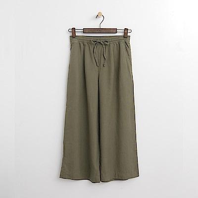 Hang Ten - 女裝 - 綁帶設計寬褲-墨綠色