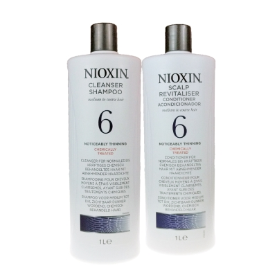 NIOXIN 耐奧森(儷康絲) 6號組合潔髮乳+甦活乳1000ML 公司貨
