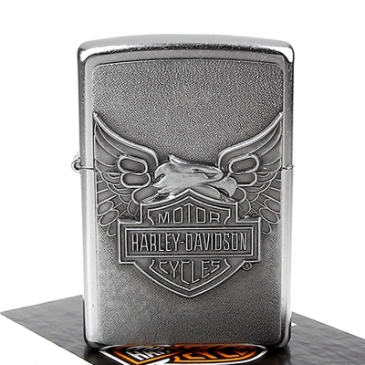 【ZIPPO】美系~哈雷~Harley-Davidson-Iron Eagle老鷹立體貼飾