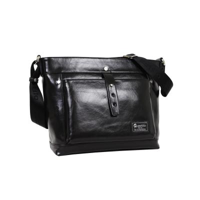 estilo - 品味系列 內斂優雅 小型斜背包 - 黑色