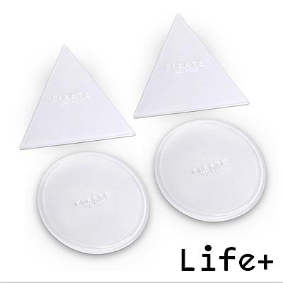 Life Plus 無痕隨行矽膠貼墊/萬用貼/隨手貼 (透明-三角+圓形)X2