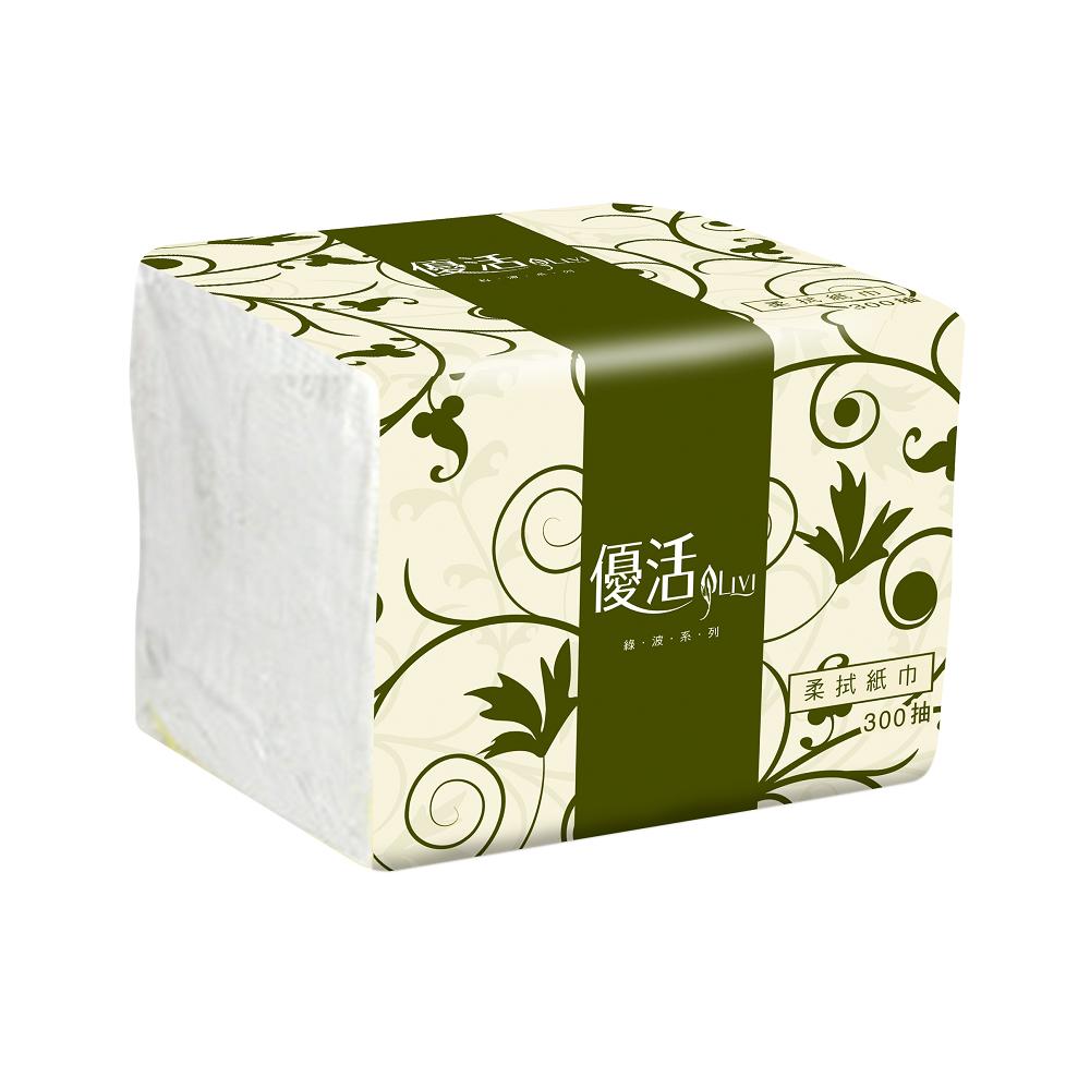Livi優活單抽式柔拭紙巾300抽X72包/箱