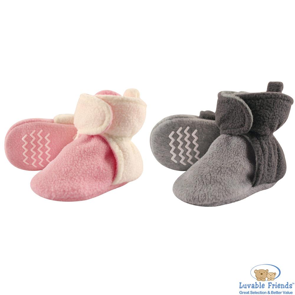 Luvable Friends 雙色刷毛保暖腳套襪套