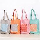 iSFun動物印花 輕便購物單肩背手提袋4色可選