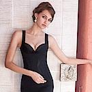 曼黛瑪璉-美型顯瘦 寬肩帶V領背心S-XL(黑)