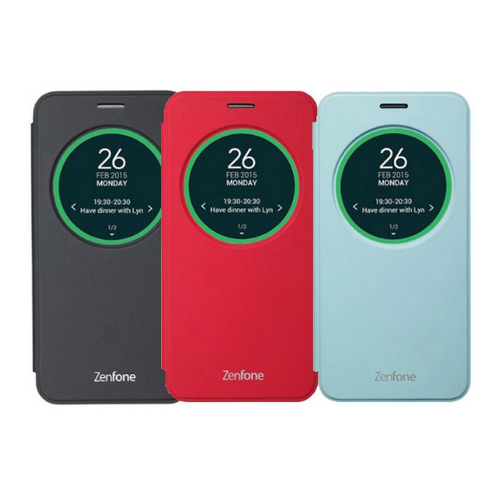 ASUS ZenFone2 Laser 5吋原廠智慧型視窗皮套(ZE500KL)--藍色