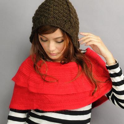 【Aimee Toff】造型用反摺變化輕盈圍脖(紅)