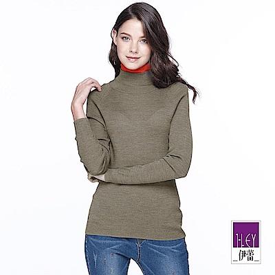 ILEY伊蕾 雙層領撞色高領毛衣(可/綠)