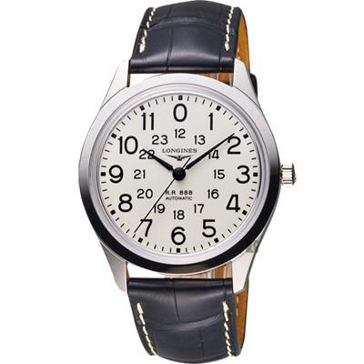 Longines 浪琴 復刻系列鐵路機械腕錶-米/40mm