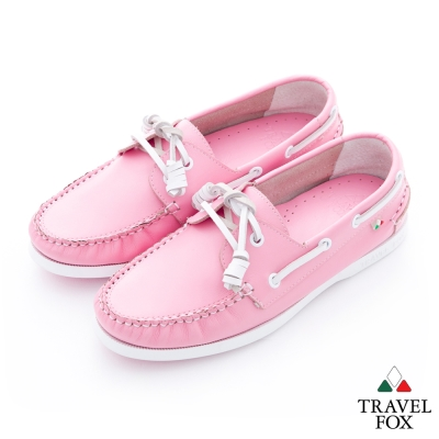 Travel Fox(女)粉粉的馬卡龍帆船鞋 - 淺粉