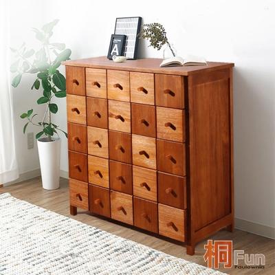 桐趣-木自慢6抽實木收納櫃(寬78CM)