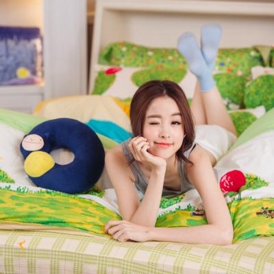 繪見幾米-照相本子 派對女孩 氣球枕套 單人兩用被床包組