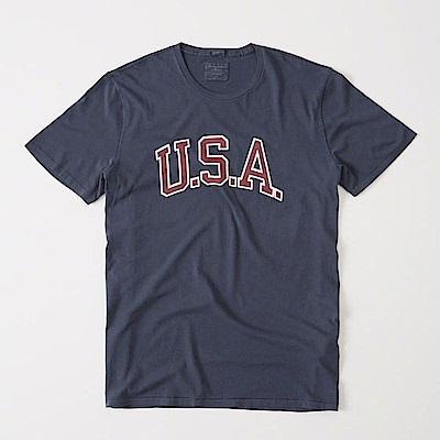 AF a&f Abercrombie & Fitch 短袖 T恤 藍色 0601