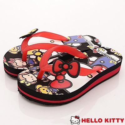 HelloKitty童鞋 不對稱夾腳拖鞋款 EI18154黑(小童段)
