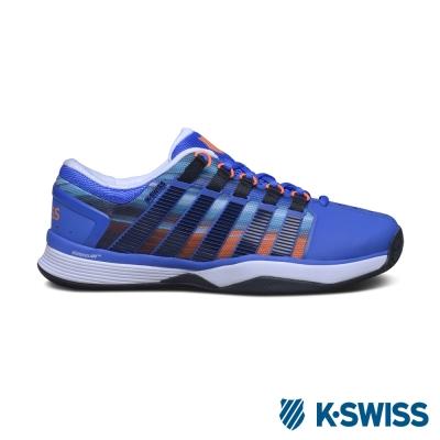 K-Swiss Hypercourt專業網球鞋-男-藍/條紋