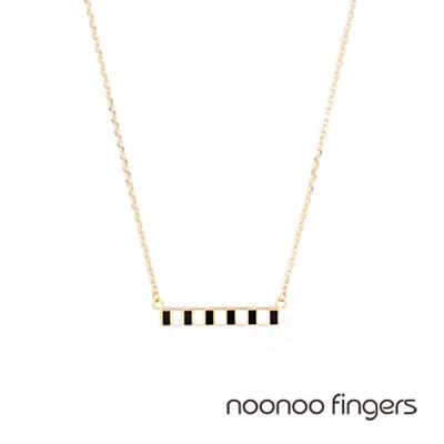 Noonoo Fingers 11bar Necklace 11格黑白格 項鍊
