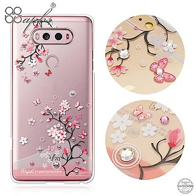 apbs LG V20 施華洛世奇彩鑽手機殼-日本櫻