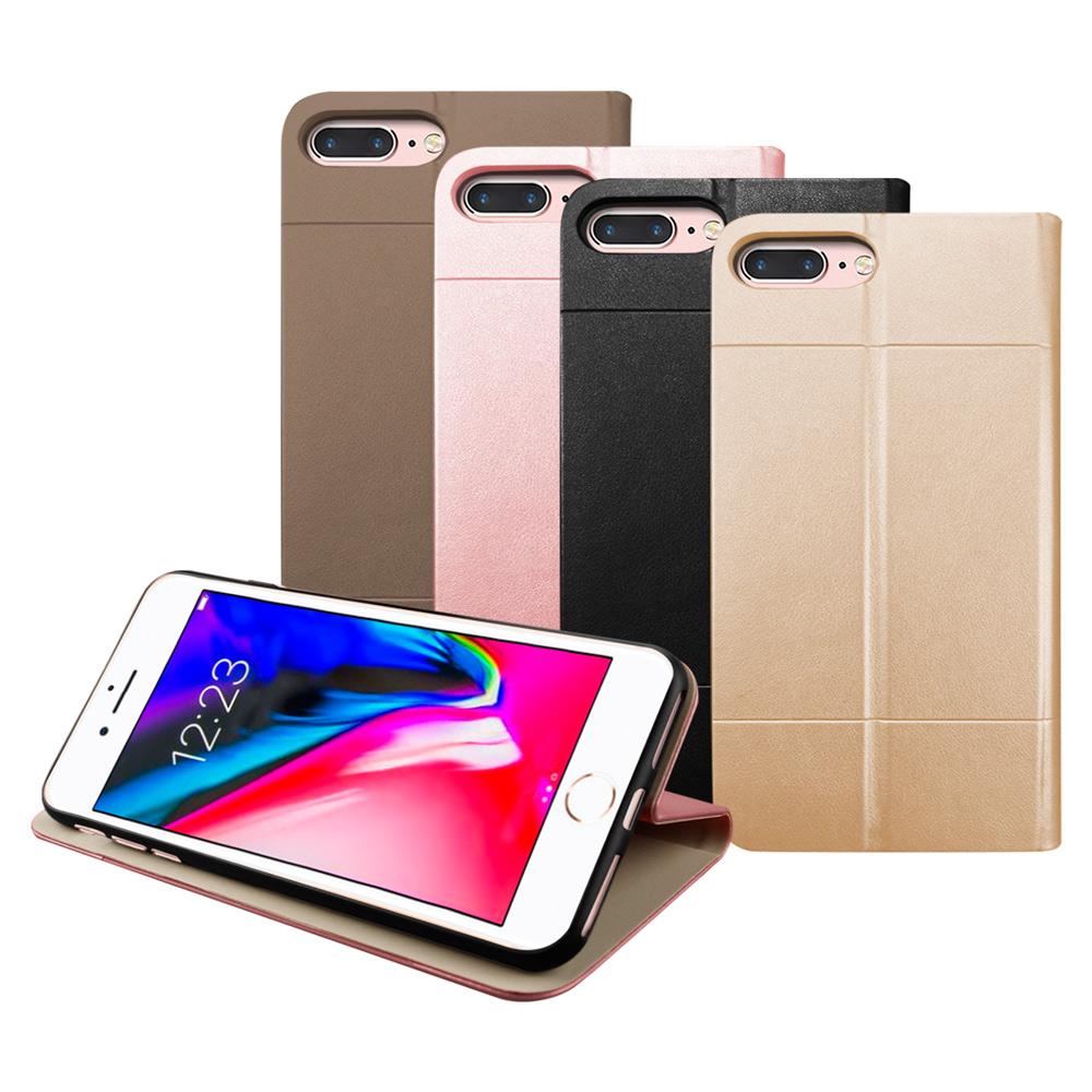 LUCCIDA Apple iPhone7Plus/iPhone8Plus 前插卡式側立皮套