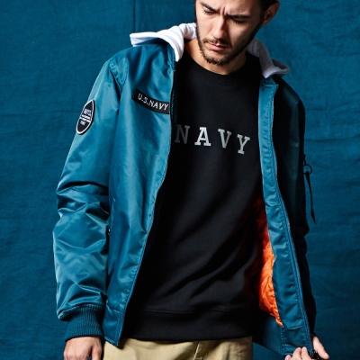 CACO-鋪棉連帽MA-1外套.情侶款(三色)-男 【MNA102】