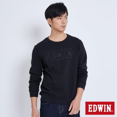 EDWIN 玩味立體LOGO模型長袖T恤-男-黑色