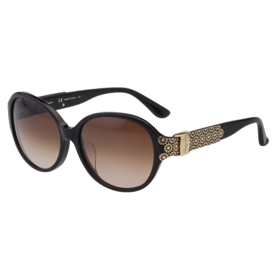 Salvatore Ferragamo- 時尚優雅太陽眼鏡(黑色)SF742SA