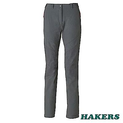 【HAKERS 哈克士】女 快乾彈性長褲(鋼鐵灰)