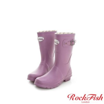 ROCKFISH 質感霧面短筒雨靴 酷色系列 粉藕紫