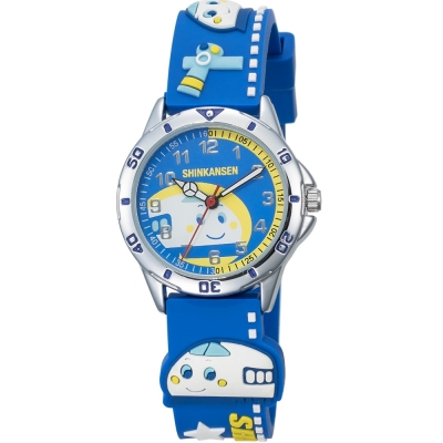 HELLO KITTY 新幹線百變英雄手錶-藍/34mm