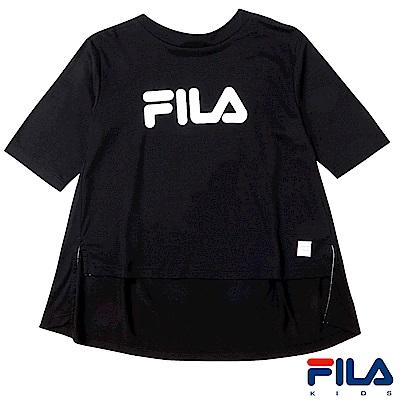 FILA KIDS #東京企劃 女圓領T恤-黑5TES-4456-BK