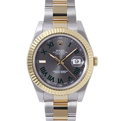 ROLEX 勞力士 Datejust II 116333 蠔式恆動日誌型半金腕錶-灰/41mm