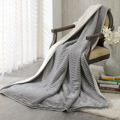 鴻宇HongYew 雙層超柔暖感萬用羊羔絨毯 氣質灰