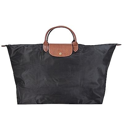 LONGCHAMP LE PLIAGE 短把手提旅行袋(XL/黑色)