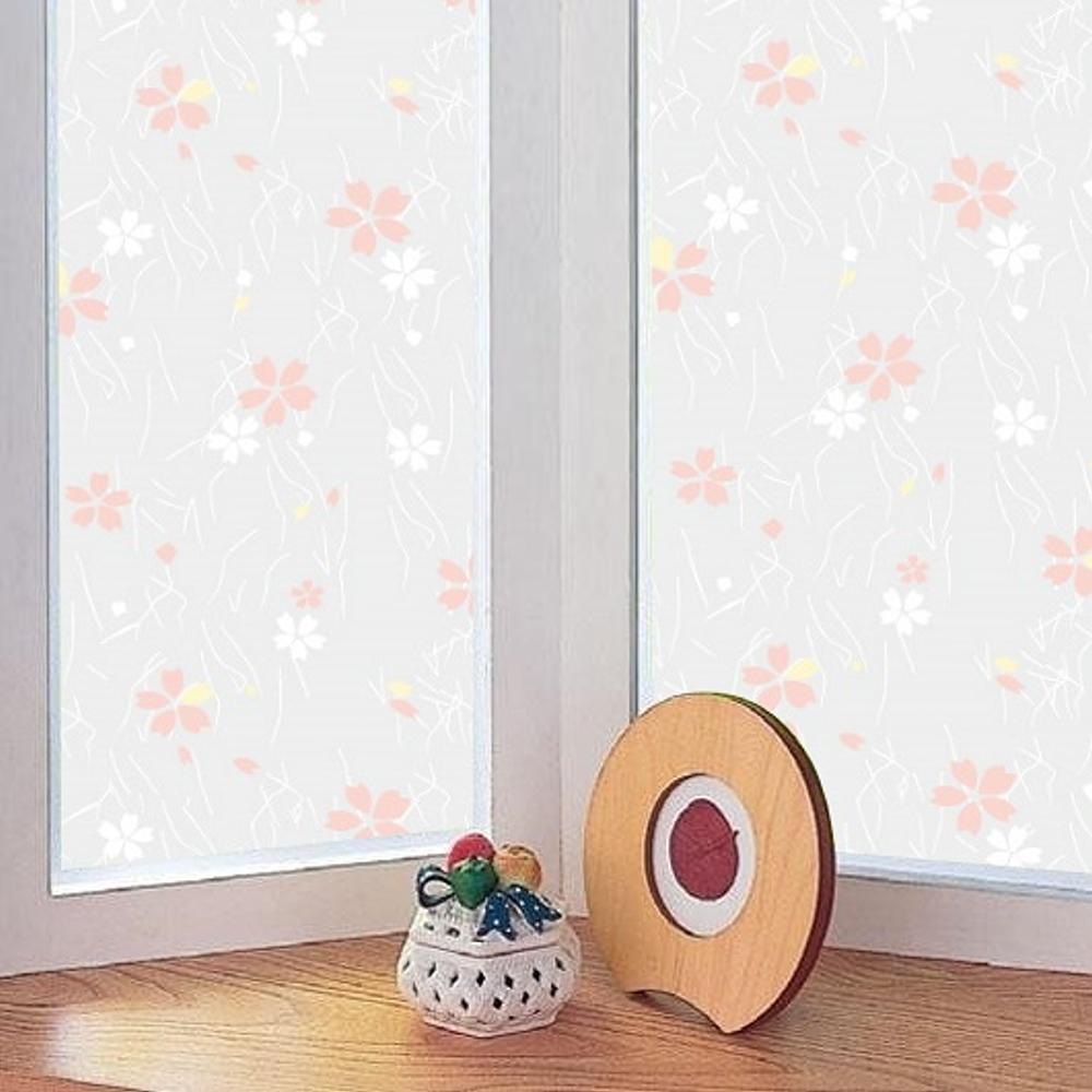 ★促銷★〔日本MEIWA〕抗UV靜電窗貼 (日式小花)92x500公分