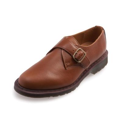 Dr.Martens PADRIAC-單扣鋼頭孟克鞋-男款-棕褐色