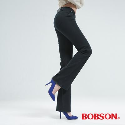 BOBSON [熱感IN]小喇叭褲-深灰綠