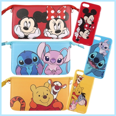 Disney迪士尼iPhone 8/7(4.7吋)彩繪軟套+手機袋禮盒-好朋友系...