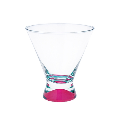 DANSK 幻彩雞尾酒杯(粉紅色×綠色)