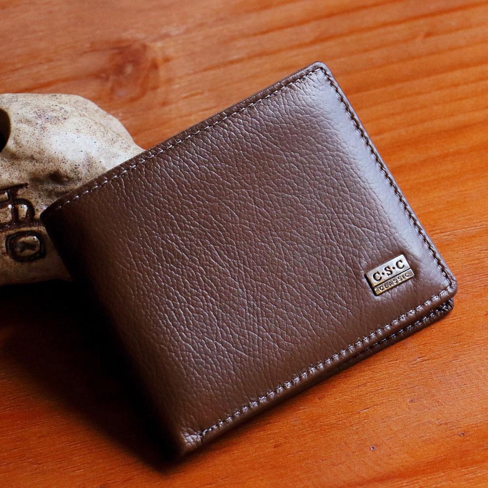 ABS愛貝斯 男用短夾 橫式皮夾 雙層鈔票層(棕)7073-014