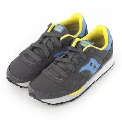 (女) 美國 SAUCONY 經典時尚休閒輕量慢跑球鞋-碳灰藍