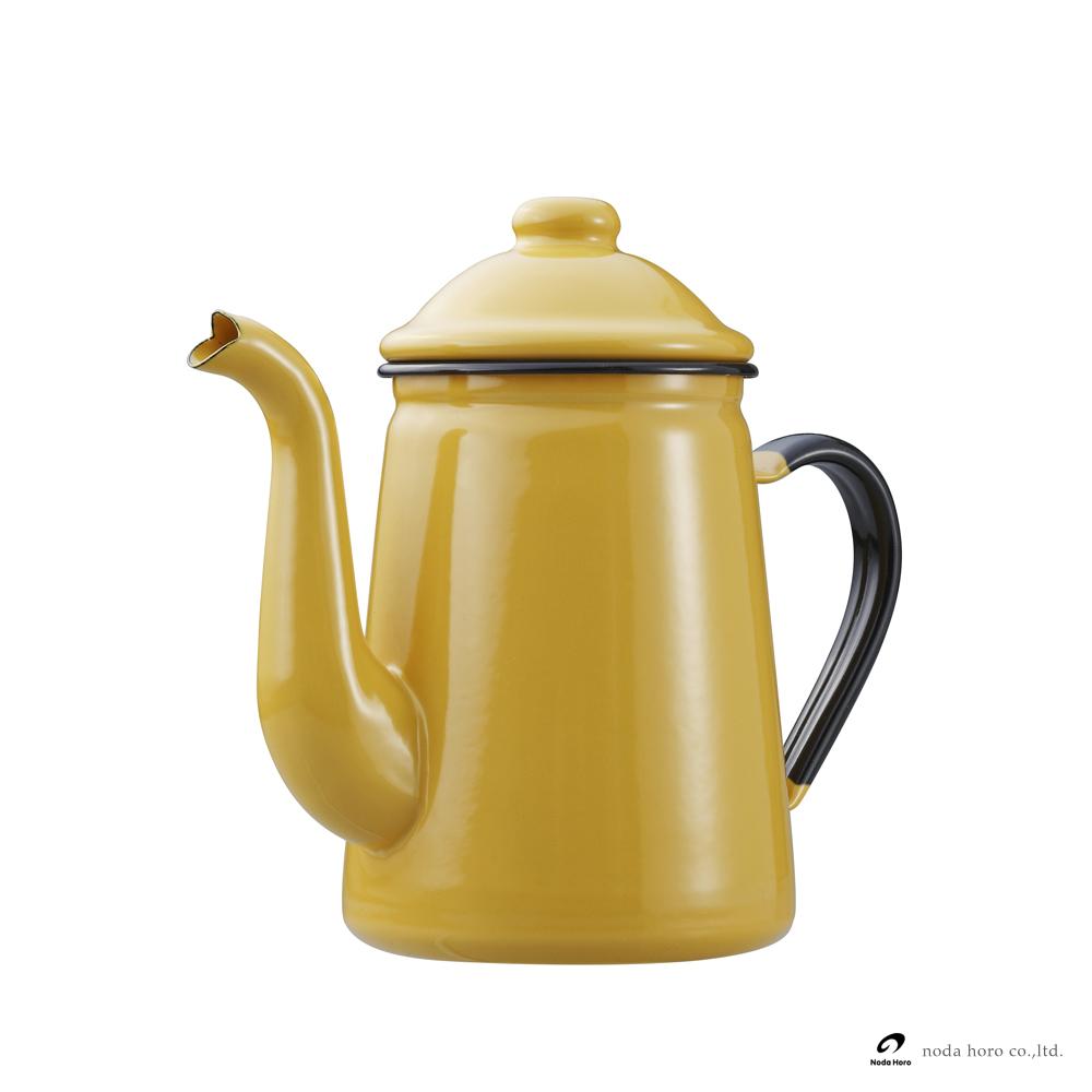 野田琺瑯 咖啡壺 - 黃