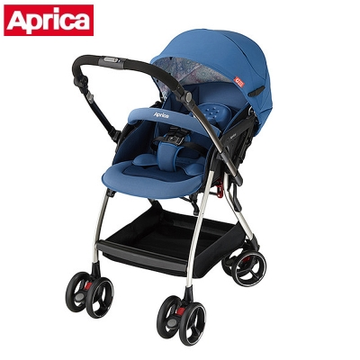 APRICA 四輪自動定位導向型嬰幼兒手推車 Optia新視野 品格藍