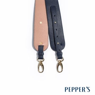 PEPPER`S Nicole 牛皮雙色長背帶 - 神秘藍