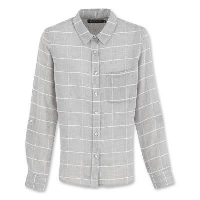Hang Ten-女裝-都會時尚襯衫-灰