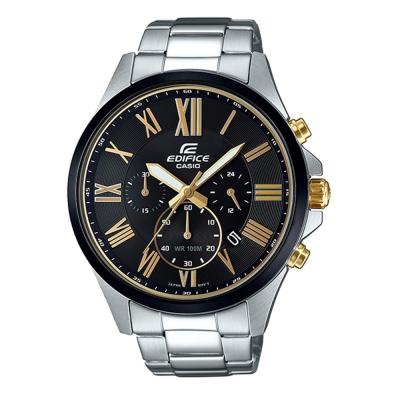 EDIFICE超大表面設計羅馬時刻城市賽車錶(EFV-500DB-1A)-黑面47mm